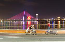 Lovers on the Dragon Bridge Danang