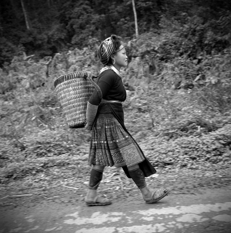 Jeune femme Hmong Mars 1997 Lao Cai
