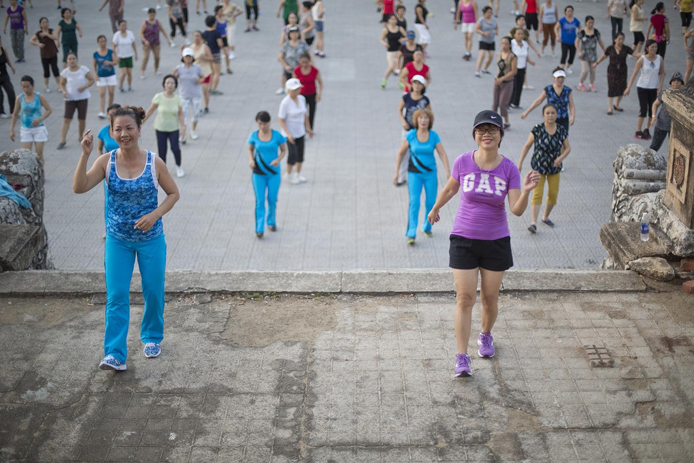 Gym matinale à Hue Le loi 2015
