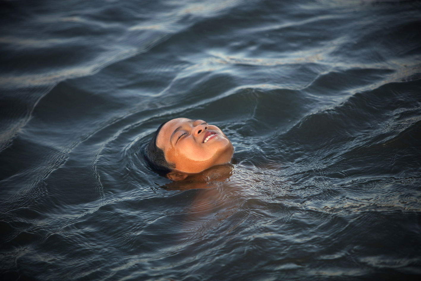 Baignade dans Lagune à Hue