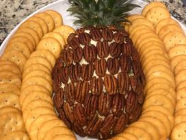 Pineapple ShapedCheeseball