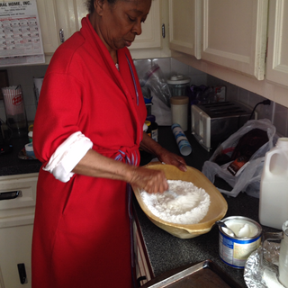 Momma making her famous biscuits!