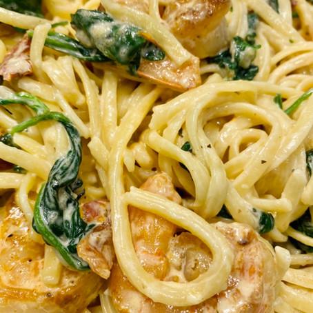 Tuscan Shrimp Linguini