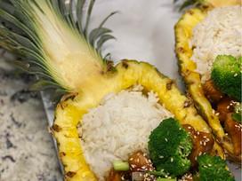 Chicken Teriyaki Pineapple Bowls
