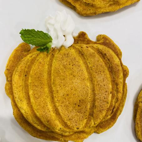 Mini Pumpkin Waffles