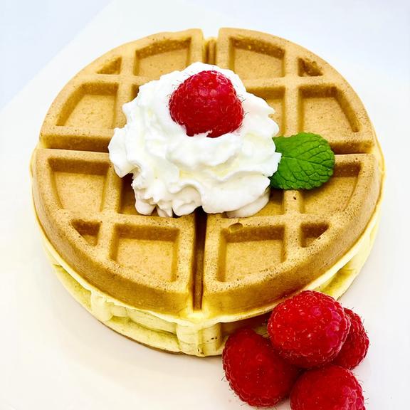 Raspberry Cheesecake Stuffed Waffles