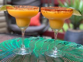 Frozen Mango Daiquris with Tajin Rim