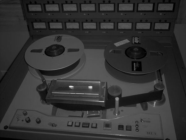 MCI 2-inch tape recording deck