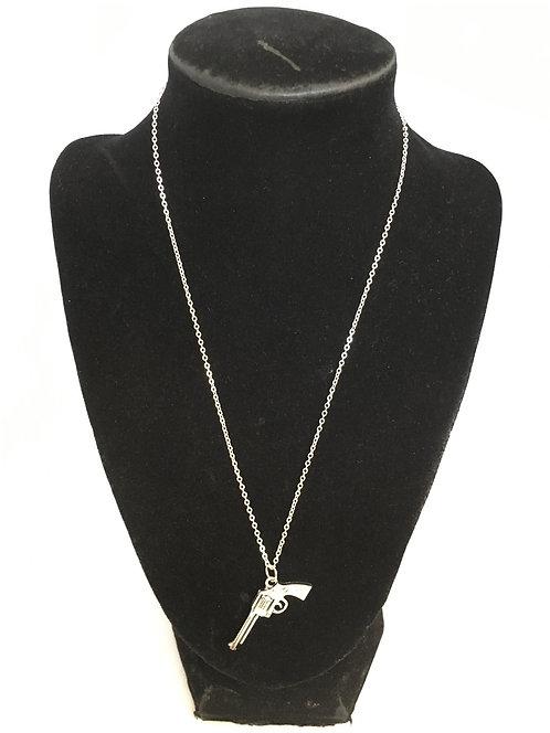 Silver Pistol Necklace
