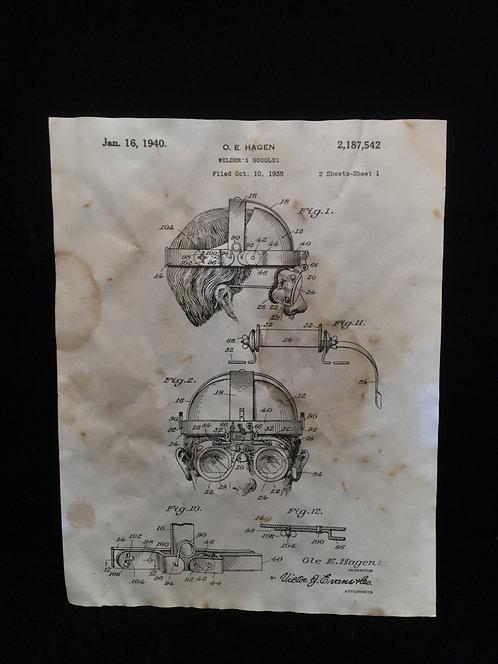 Welder's Goggles Patent Archive