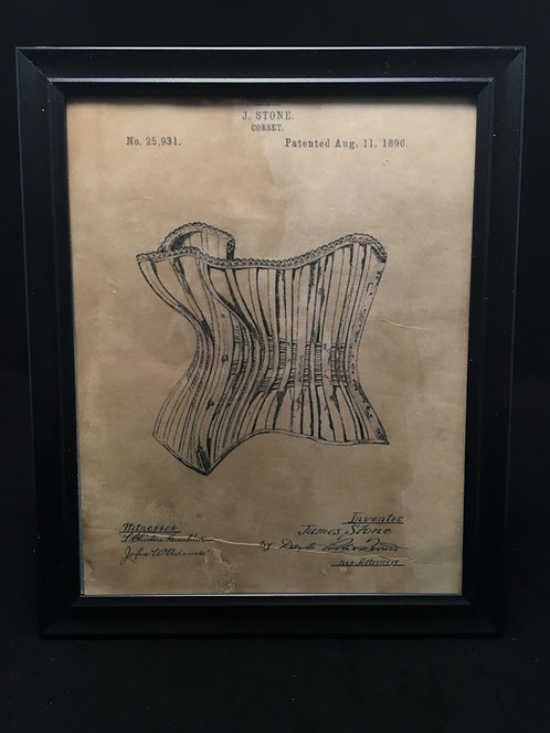 Framed Corset Patent Archive