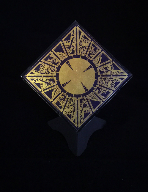 "Foil Faced ""Lament Configuration"" with Stand and Bell Jar"