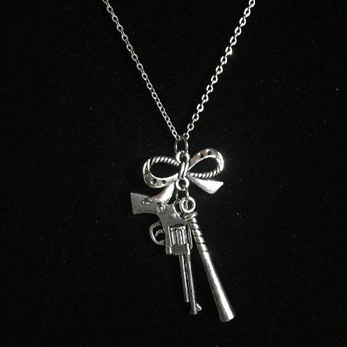Harlequin Bat Gun Necklace