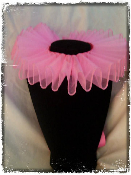 Pink Elizabethan Neck Ruffle