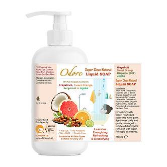 250ml Super Clean Natural Liquid Soap (Grapefruit, Sweet Orange)