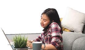 Asian Girl on Telephone .jpg