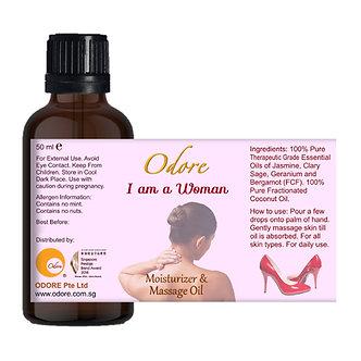 Moisturiser / Massage Oil - I am a WOMAN - 50 ml Nett