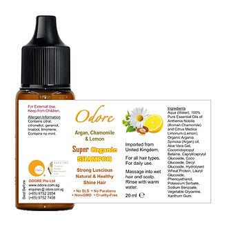 ODORE Shampoo 20ml (Argan, Chamomile, Lemon)