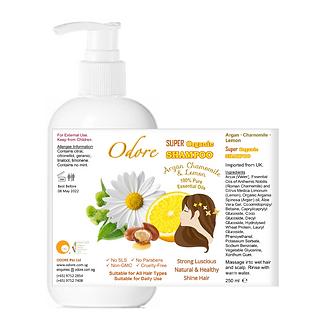 ODORE Shampoo 250ml (Argan, Chamomile, Lemon)