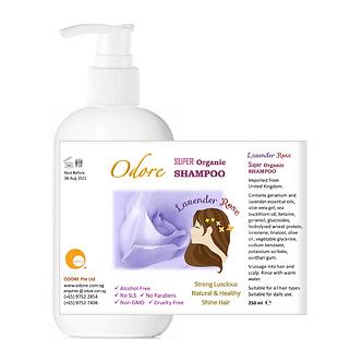 ODORE Shampoo 250ml (Lavender, Rose)