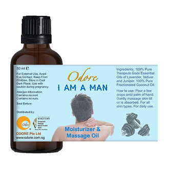 Moisturiser / Massage Oil - I am a MAN - 50 ml Nett