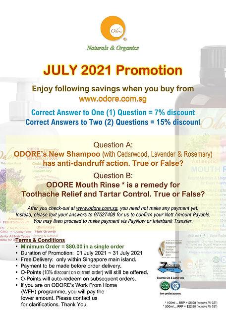 Odore - JULY 2021 Promo - July 2021 ...