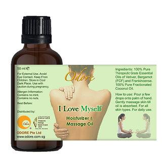 Moisturiser / Massage Oil - I LOVE MYSELF - 50 ml Nett