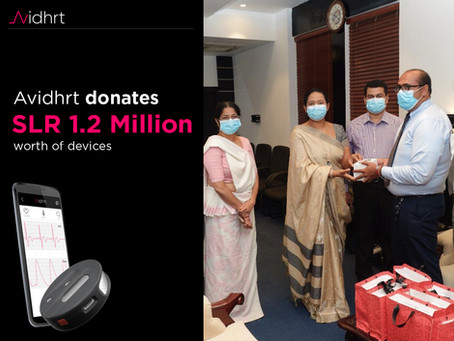 Avidhrt donates vital monitoring devices to help monitor those who are under COVID-19 quarantine