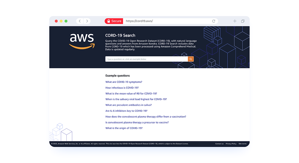 AWS Cord 19 search
