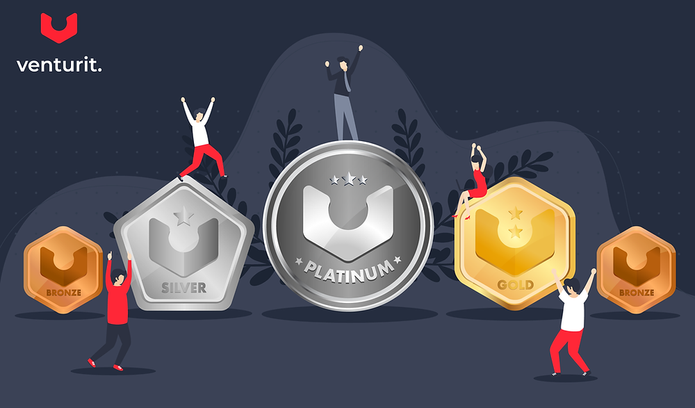 Strive Badges: Bronze, Silver, Gold, Platinum.