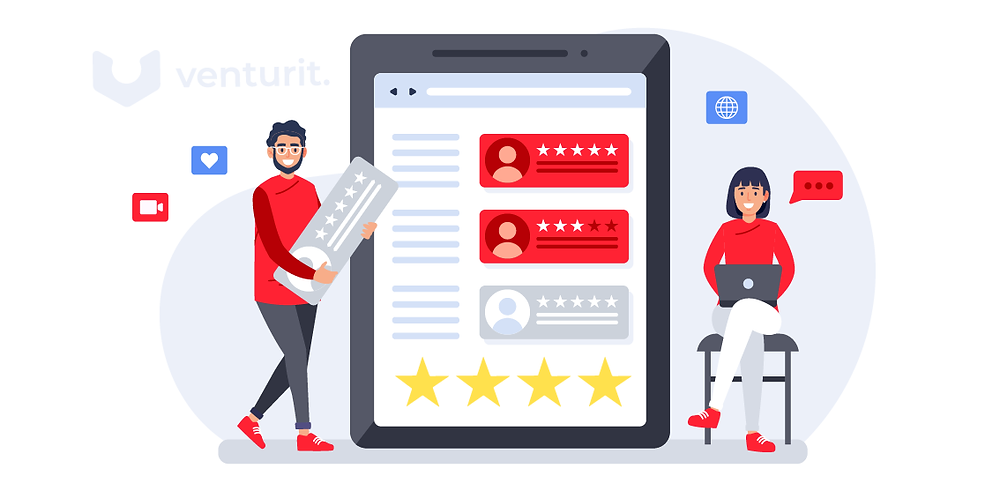 Clients giving ratings to the platform