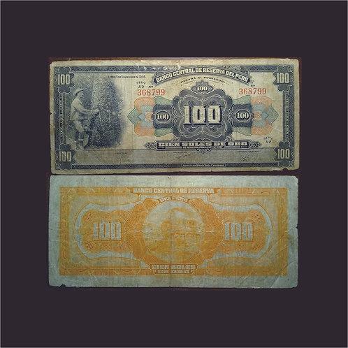 PERÚ - Billete 100 Soles de Oro 1946