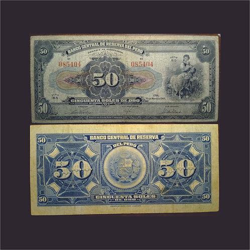 PERÚ - Billete 50 Soles de Oro1944