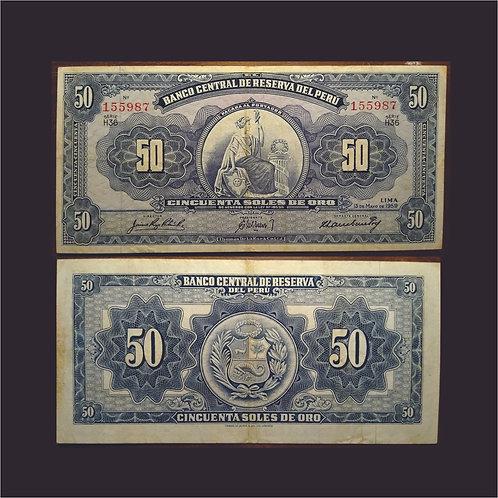PERÚ - Billete 50 Soles de Oro1959