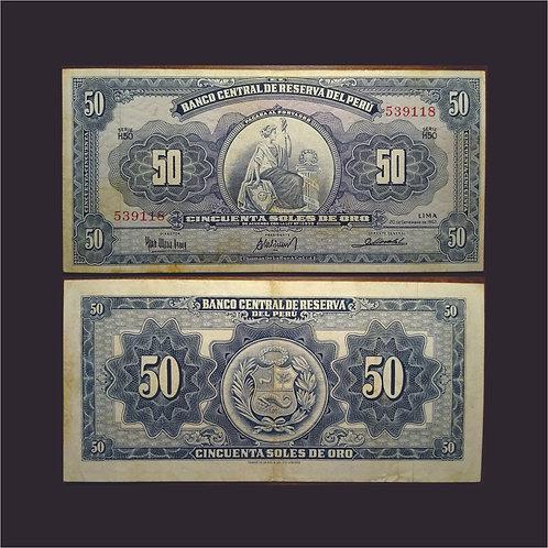 PERÚ - Billete 50 Soles de Oro1963