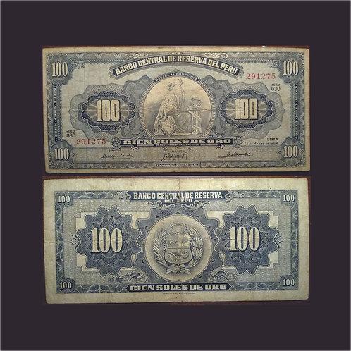 PERÚ - Billete 100 Soles de Oro 1964
