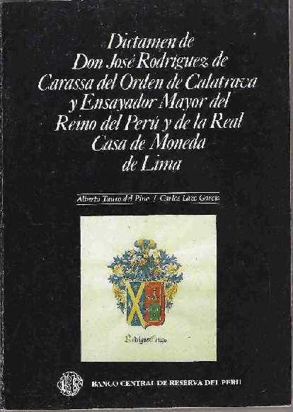 LIBRO - Dictamen de Don José Rodriguez de Carassa del Orden de Calatrava