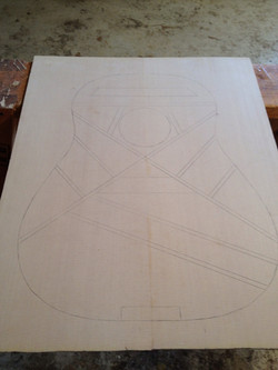Laying out the bracing pattern