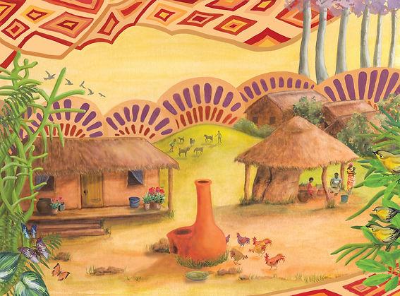 Kenyan Village scene