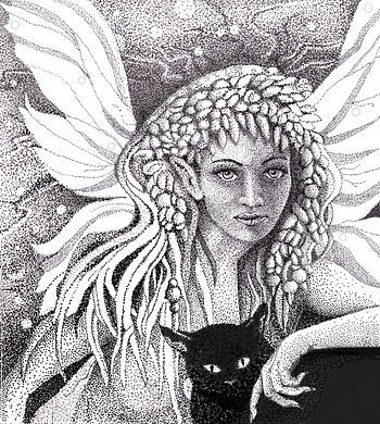Night Fae with her companion