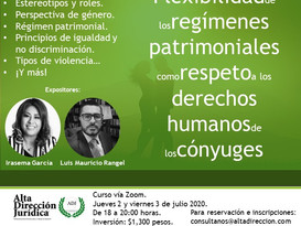 Flexibilidad de los regímenes patrimoniales como respeto a los derechos humanos de los cónyuges
