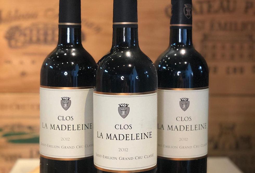 Clos La Madeleine Saint Emilion Grand Cru Classe 2012