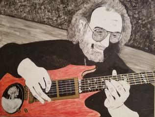 Tracey Diamond Designs Jerry Garcia Portrait Illustration