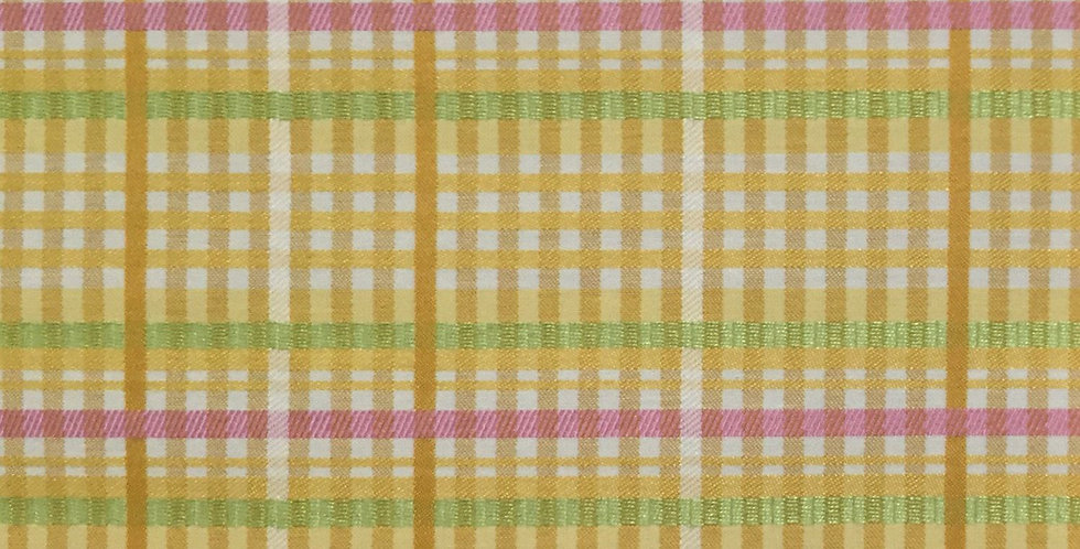 Yellow Pink Green Check/ Plaid - Easter Plaid