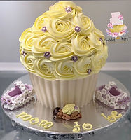 Lilac Yellow Giant Cupcake.jpg