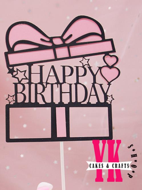 Happy Birthday Present Cake Topper