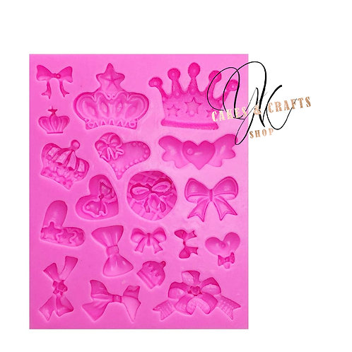 Crowns & Bows Silicone Mold
