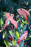 """Three Red Birds"" artwork by artist Steph Holmes"