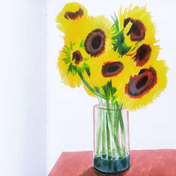 """Sunflowers in Vase II"""