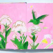 """""""Green Hummingbird, Pink Sky"""""""